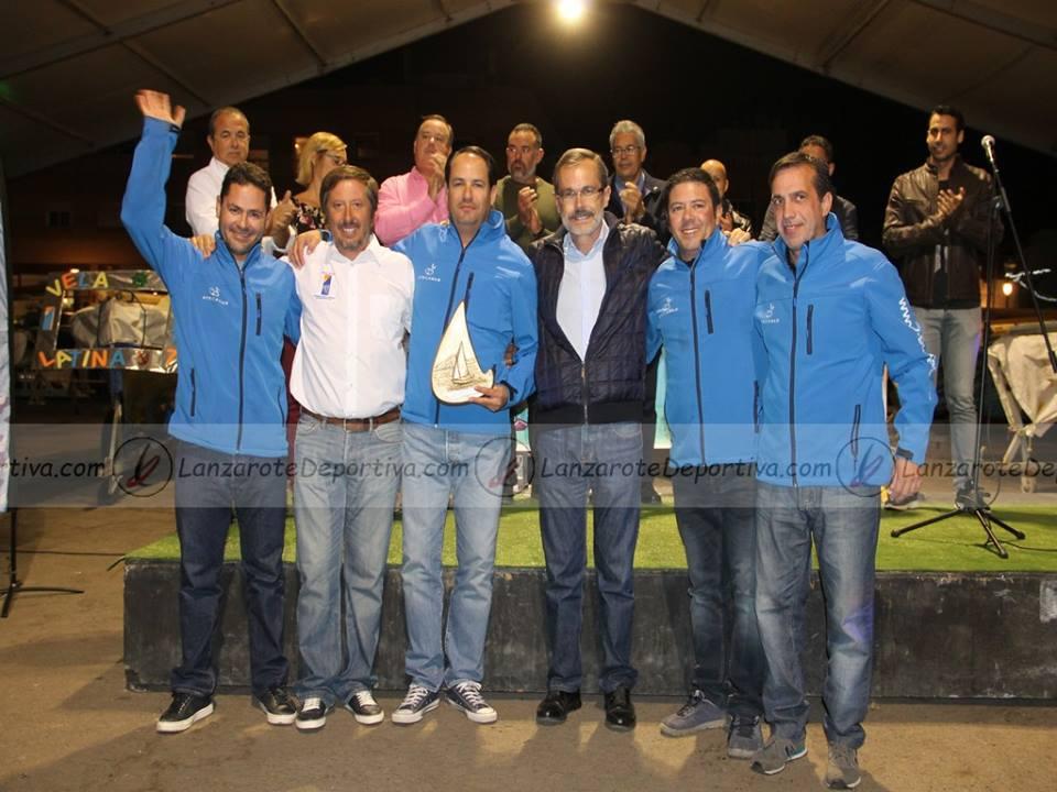 AFRICARMAR, equipo vencedor del Campeonato con Ángel Delgado y Marcial Morales.