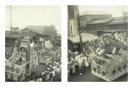 本町通を行く新潟祭りの山車