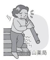 痛みや痺れをのイメージイラスト(by新潟市の漢方薬専門店「西山薬局」)