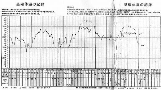 処方してもらった周期でまさかの妊娠をされた女性31歳の基礎体温表(by新潟市の子宝・不妊・妊活漢方薬専門店「西山薬局」)