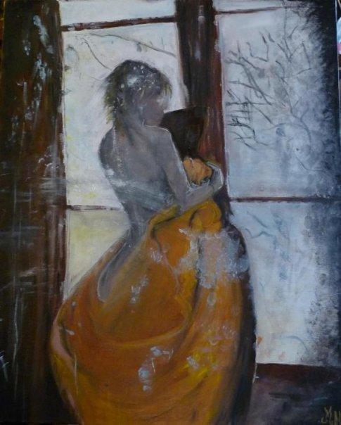 """peinture à l'huile """"the window"""""""