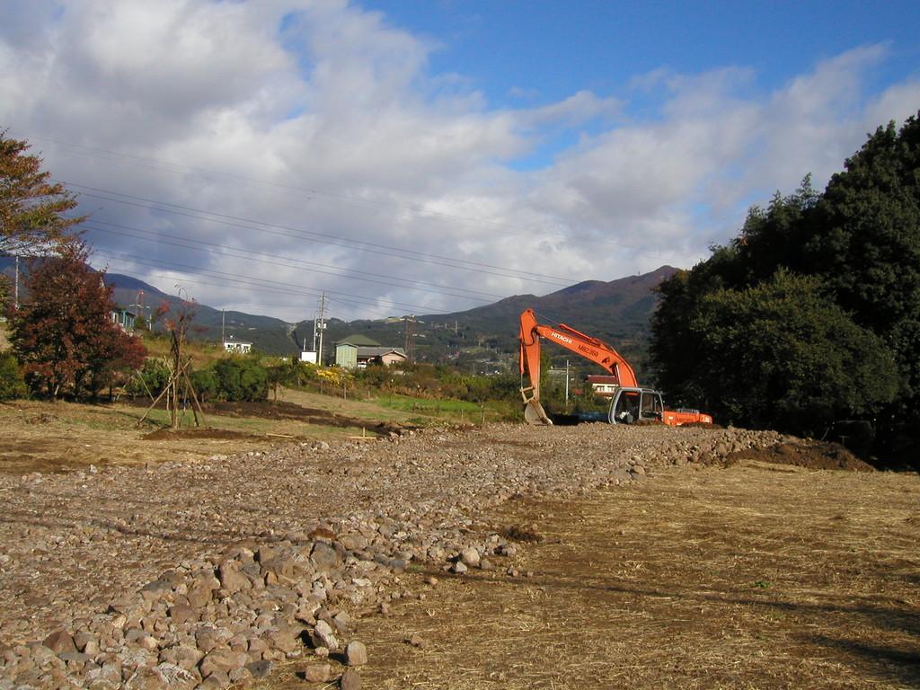 本堂建設場所の整備