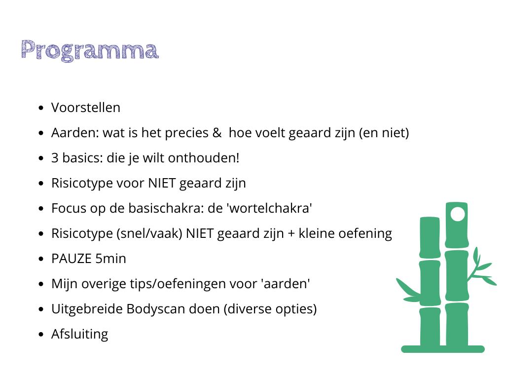 """Programma nr.3 Stress Release """"Aarden & Bodyscan"""""""