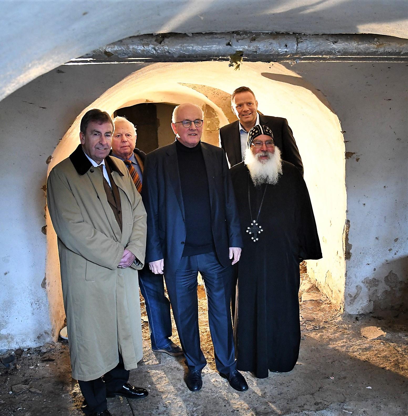 Besichtigung des Ausbaus des Klosterkellers. Foto: Maria Hopp
