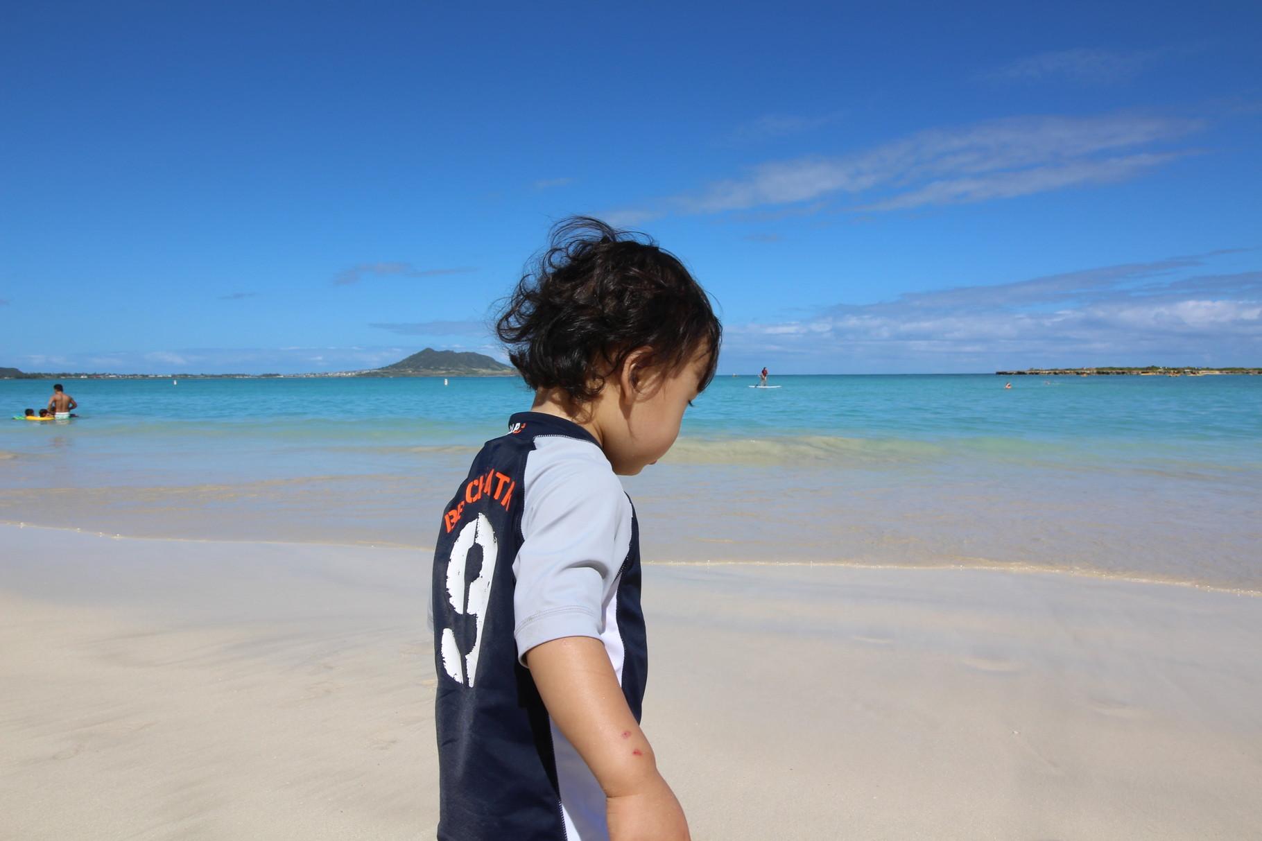 ハワイ ラニカイビーチはとても静か!