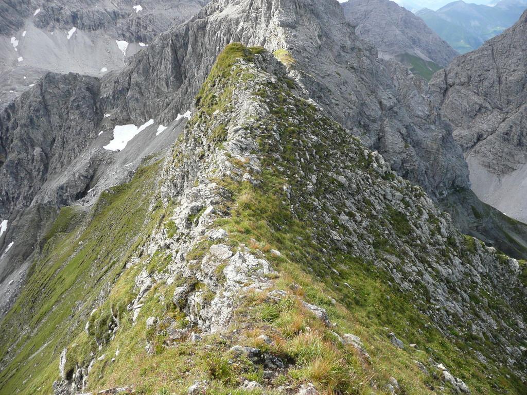 Der heikle Grat vom Linkerskopf Richtung Rotgundspitze