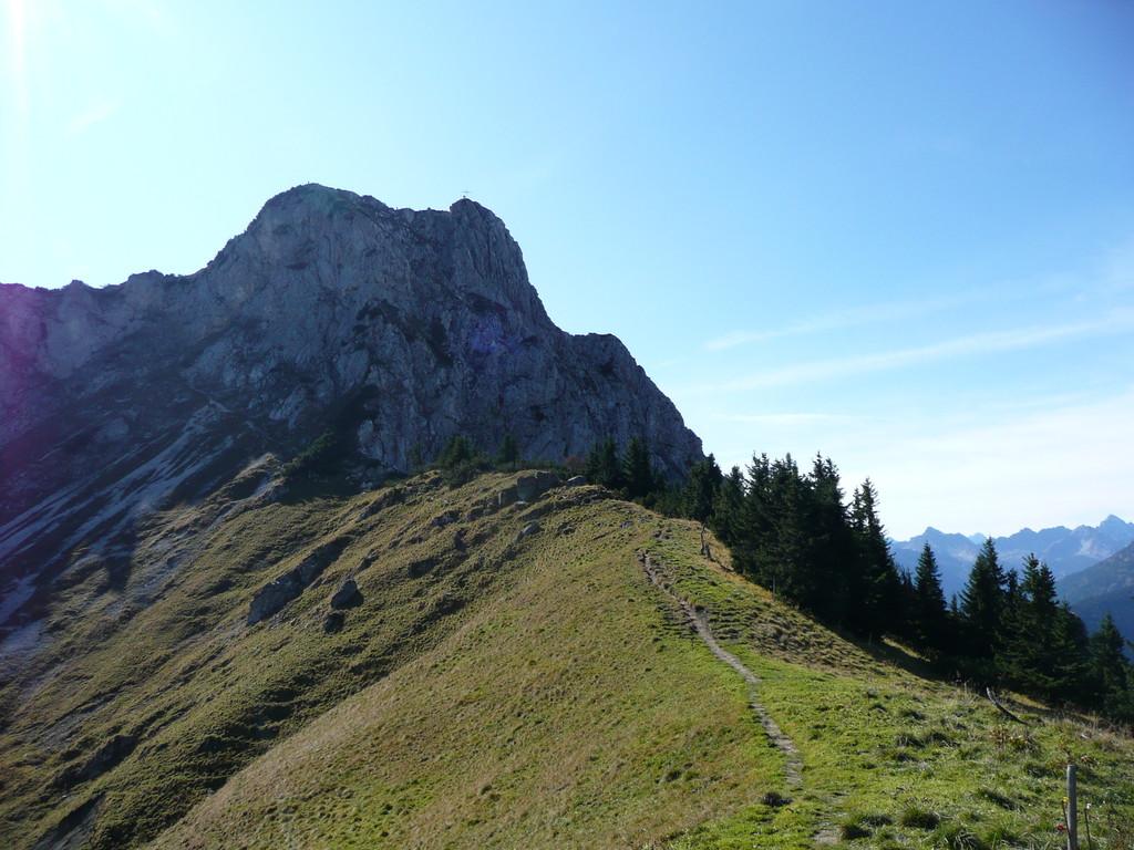 Übergang vom Hahnenkamm zur Gaichtspitze