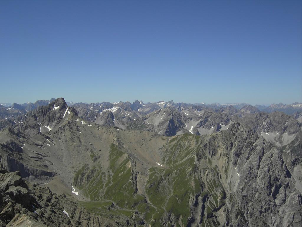 Blick auf die Lechtaler Alpen mit Großer Schlenkerspitze