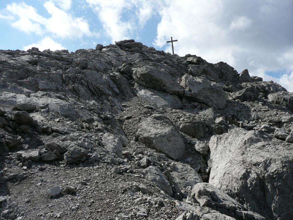 Gipfelkreuz in Sicht