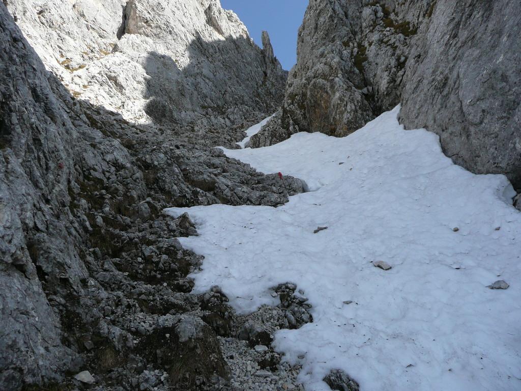 Im Kamin mit Schnee