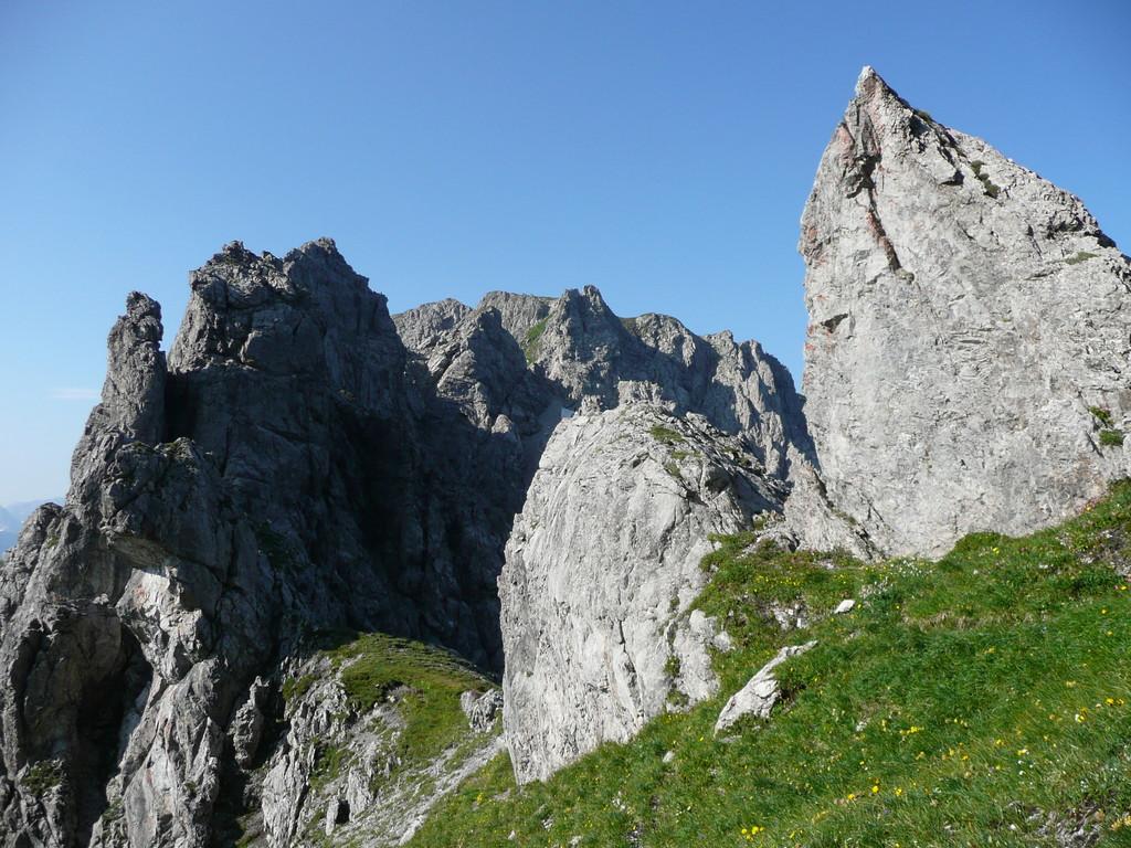 Im Sattel zwischen Geißhorn und Liechelkopf
