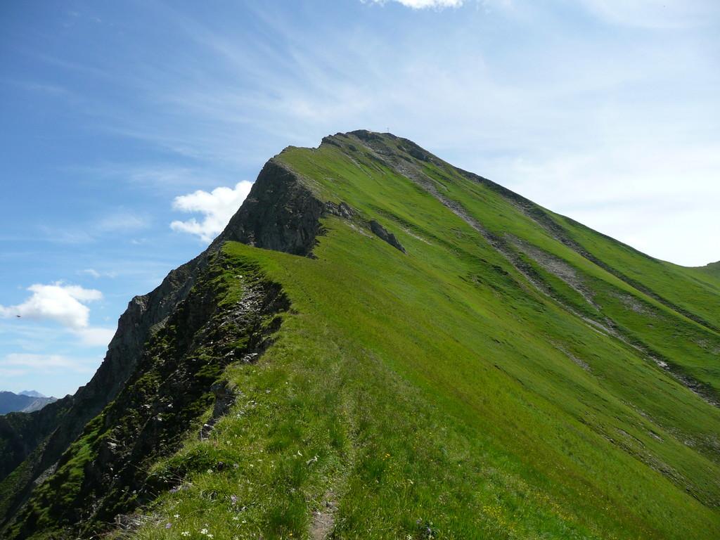 Der Gipfelgrat zur Elmer Kreuzspitze