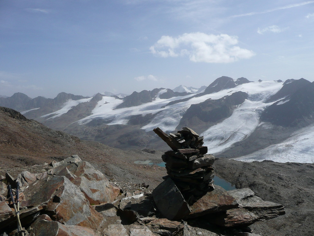 Am Gipfel des Hinteren Eis