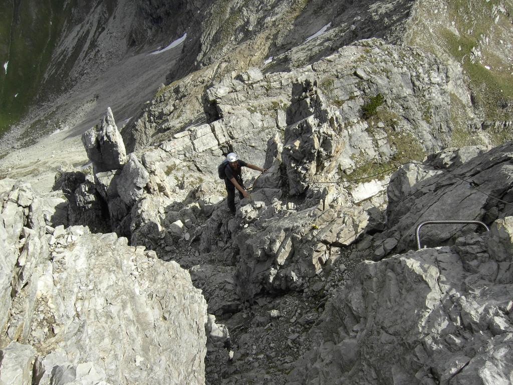 Abwechslungsreiche Passage im Klettersteig