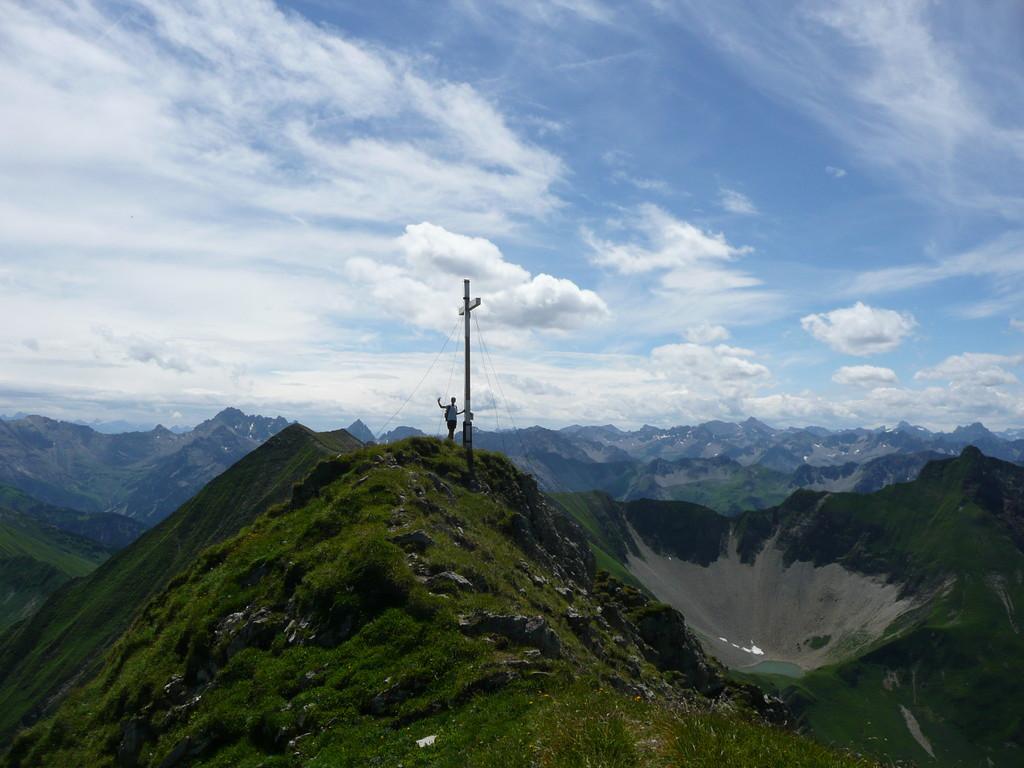 Am Gipfel der Elmer Kreuzspitze