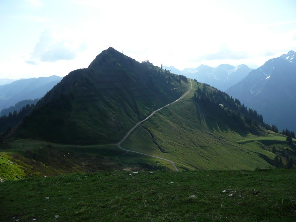 Der normale Aufstiegsweg zum Walmendingerhorn