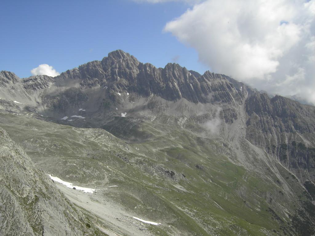 Blick auf einen Teil der Hornbachkette