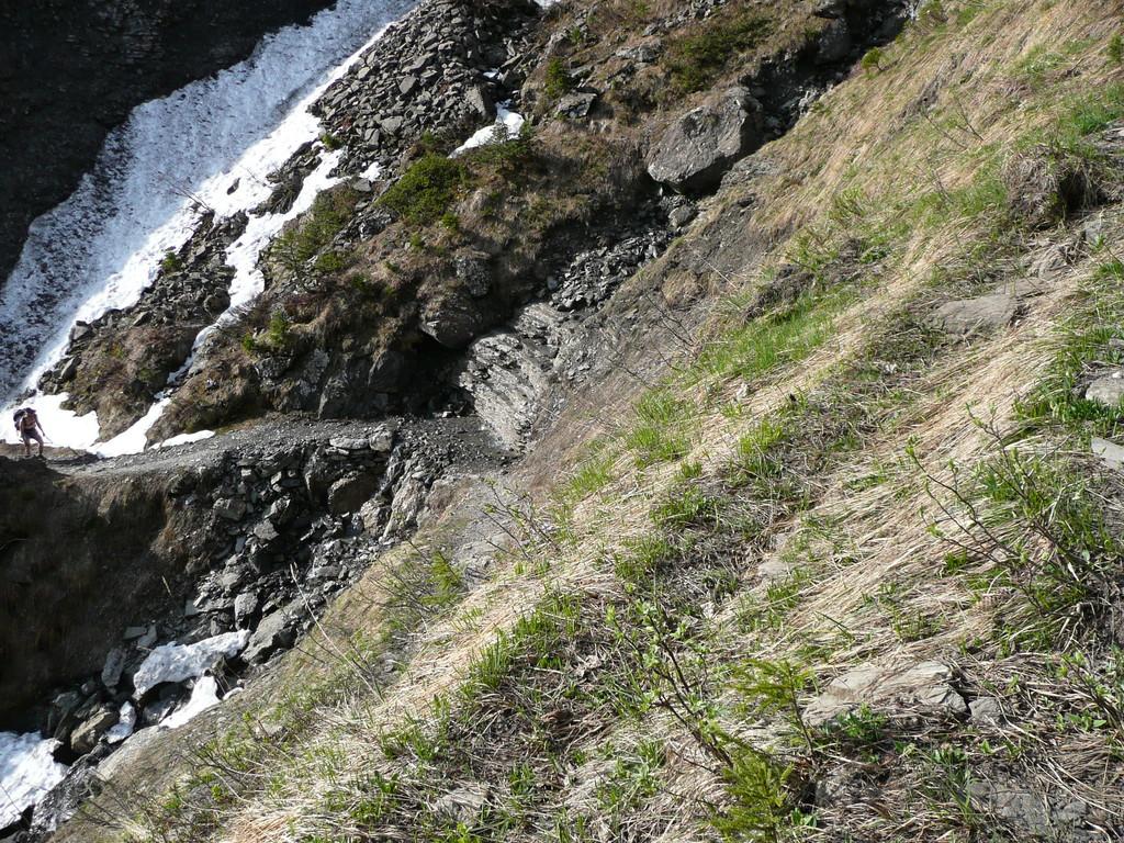 In den Aufstiegskehren zum Fluhlöchle