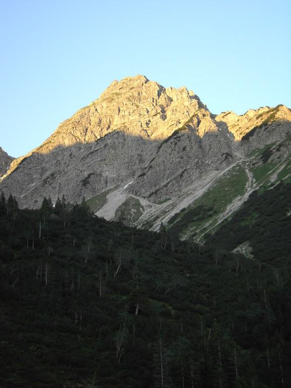 Rotspitze im Aufstieg