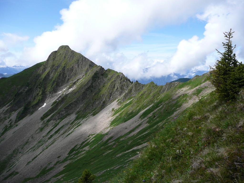 Das Türtschhorn mit Verbindungsgrat zum Glatthorn