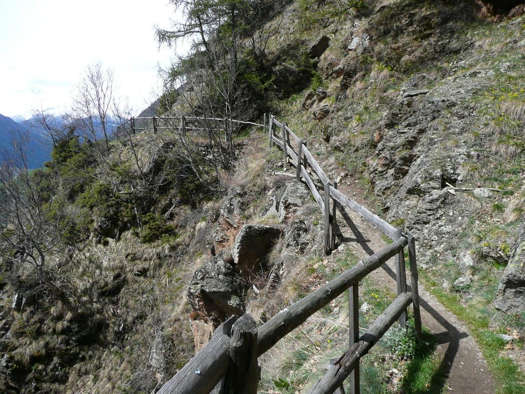 Typischer Abschnitt am Höhenweg