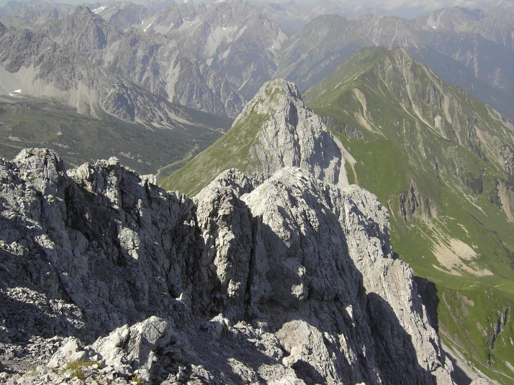 Blick vom Maldongrat zum Falschkogel