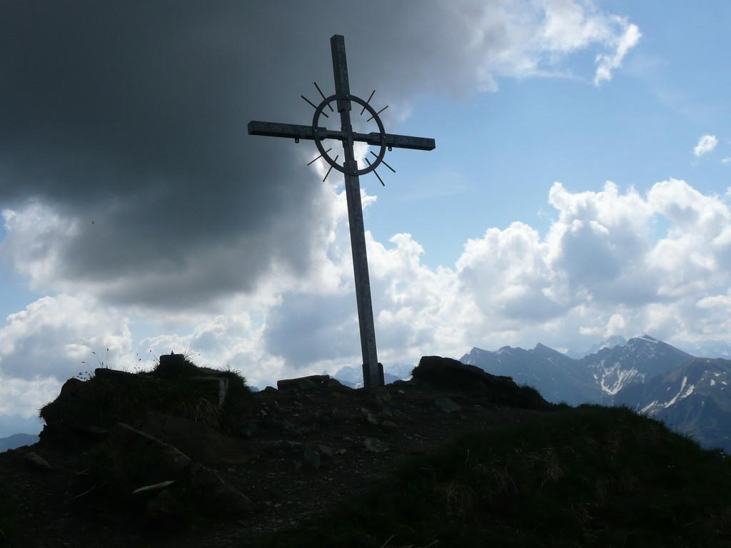 Am Gipfel des Grünhorn