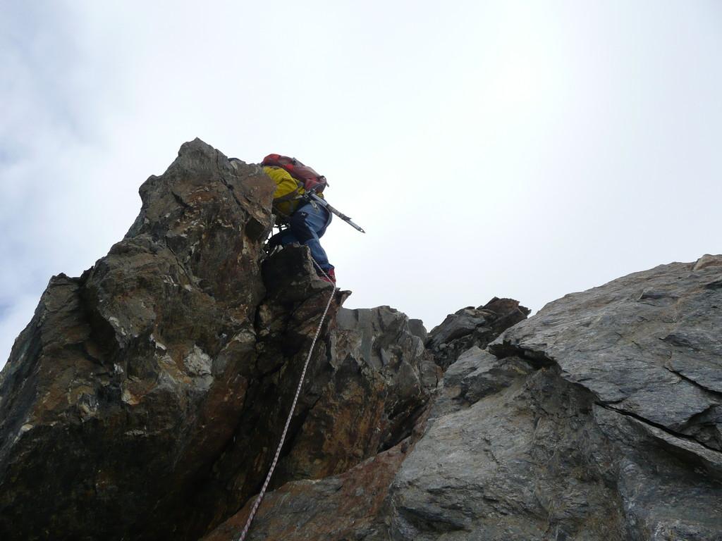 Kletterstellen im Grat