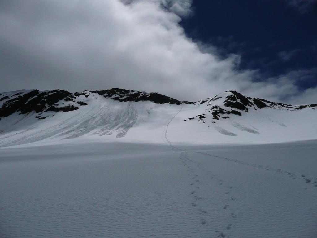 Abstieg von der Köllkuppe über den steilen Hohenferner