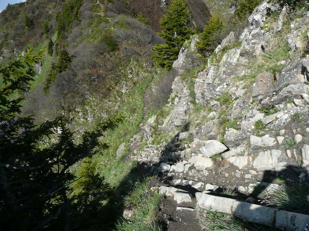 Wegpassage am Höhenweg
