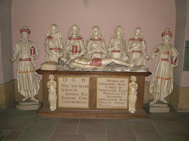 Grabstätte Johanns in der Kathedrale von Luxemburg