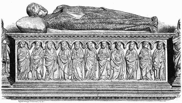 Heinrich VII. Marmorgrabmal im Dom zu Pisa,