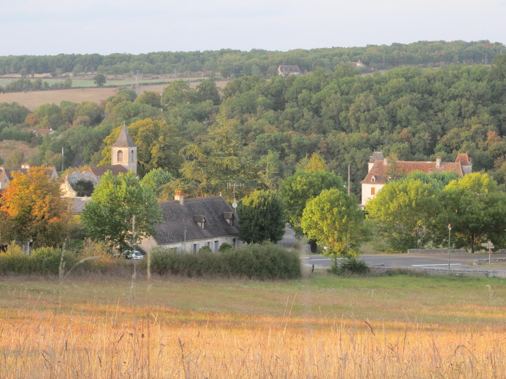 "vue du village depuis ""Faral"""