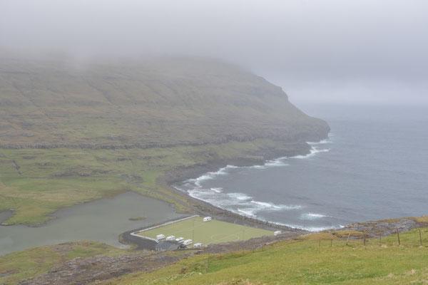 Campingplatz in Eiði.