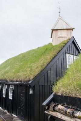 Kirche in Kollafjørður.