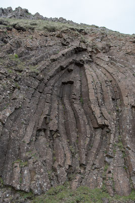 Basaltsäulen bei Hov.