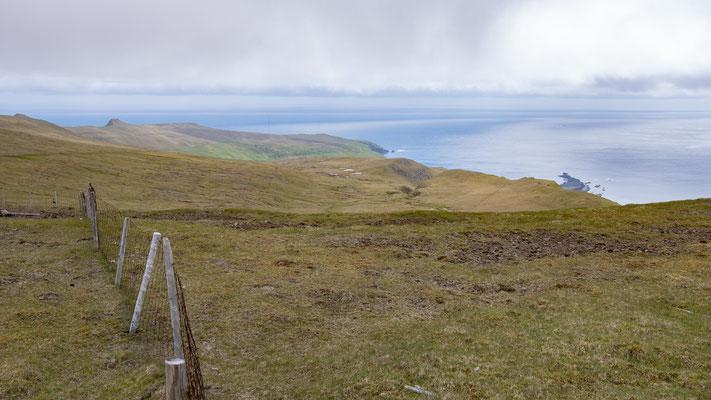 Blick auf die Südspitze der Färöer.