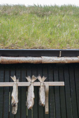 Holzschuppen zum Trocknen von Fisch und Fleisch - früher die einzige Konservierungsmöglichkeit.