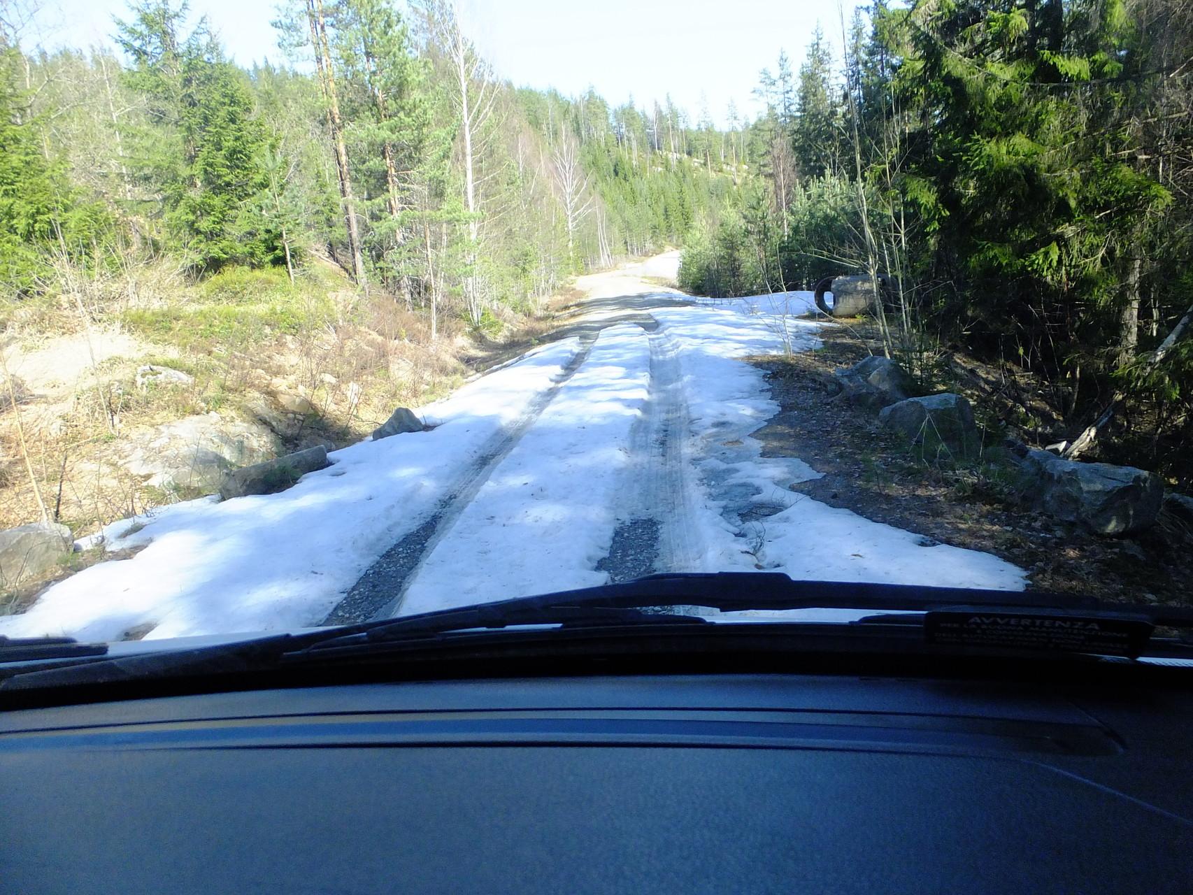 Sogar Schnee auf der Straße