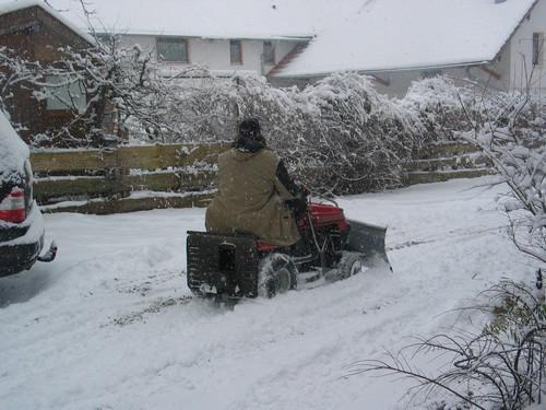 Danke Steff! Für´s Schnee räumen :-)