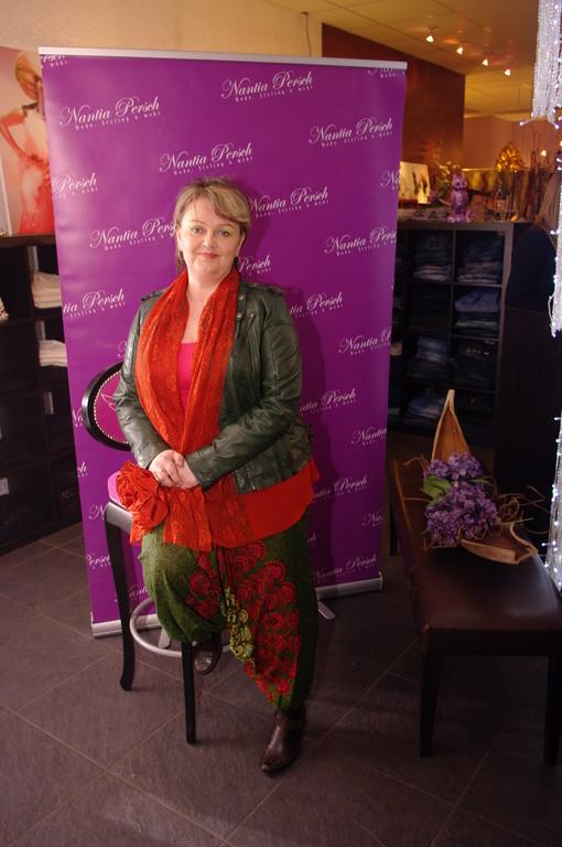 Karin F. mit den tollen Lederjacken von Khaja....weiches Lammnappa