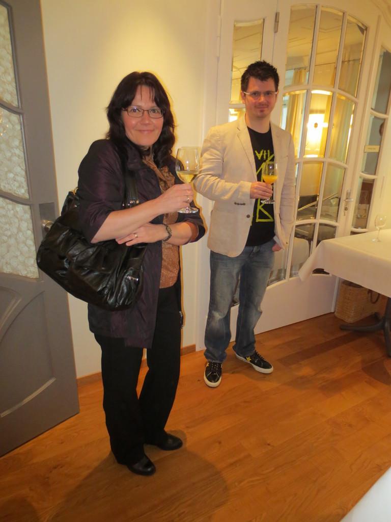 Rechnungsführerin Suzanne Fracasso-Rovina und VDSV-Mitglied Steve del Prete
