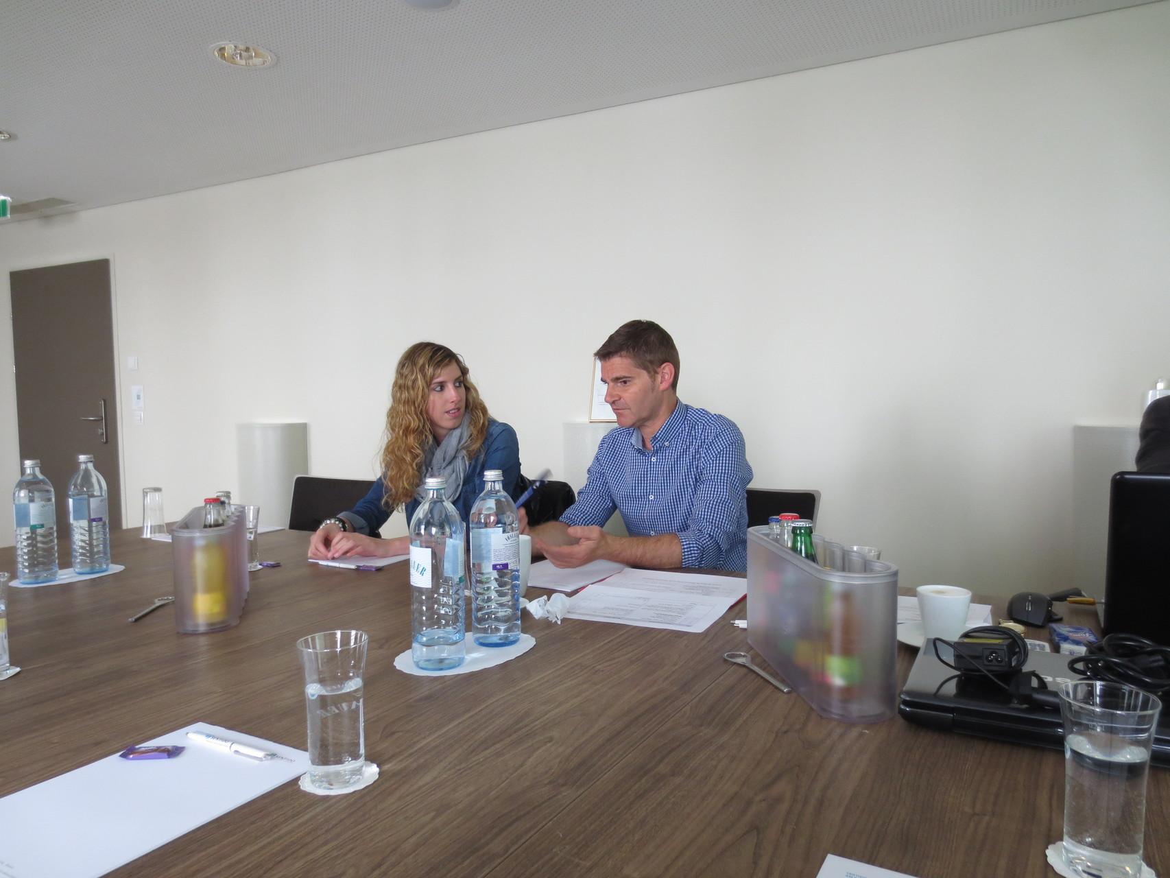 Seehotel Hotel am Kaiserstrand: Kurz vor Beginn der 5. Hauptversammlung des VDSV (im Bild - v.l.n.r. - Sandra Niederberger und Corrado Oberto)