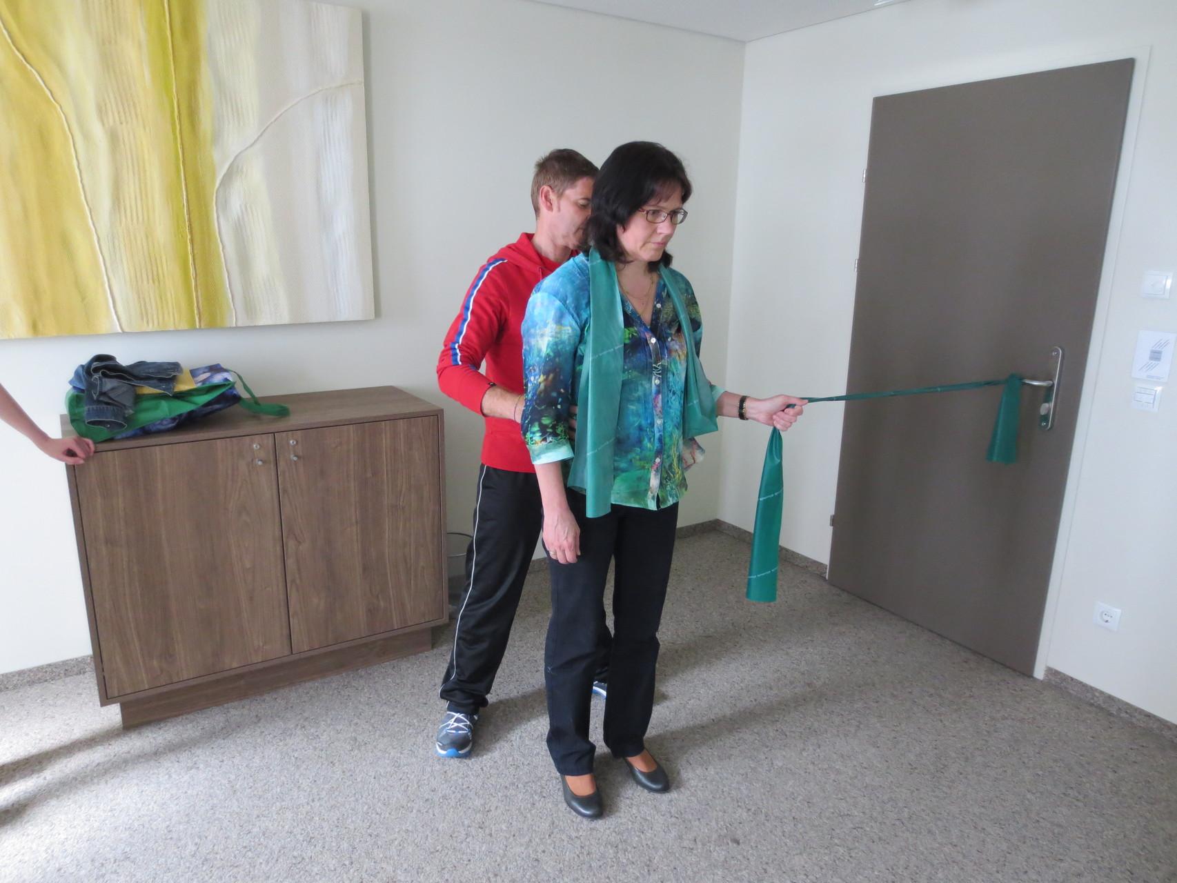 Corrado Oberto bei einer Übung mit  Suzanne Fracasso