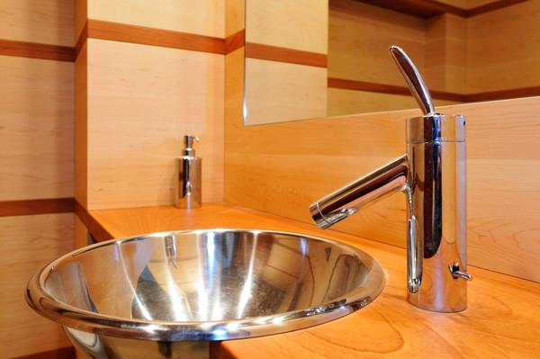 Restroom sink detail