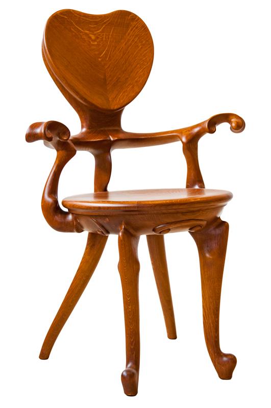 Rèplica cadira de braços Calvet - Antoni Gaudí