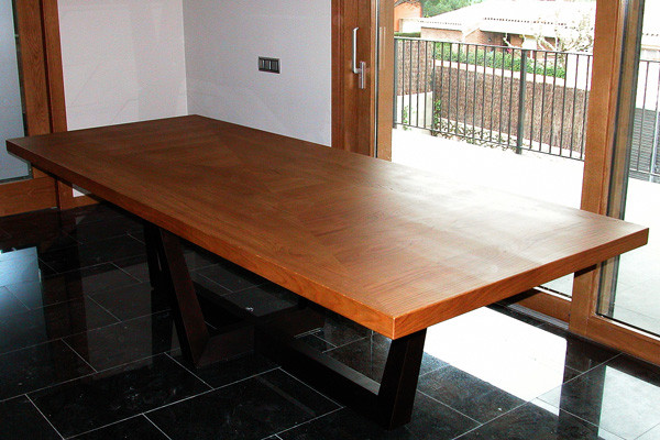 Oak dining-room table