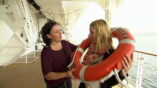 Ihre Managerin Astrid Bakalakos begleitet sie natürlich auf der Kreuzfahrt