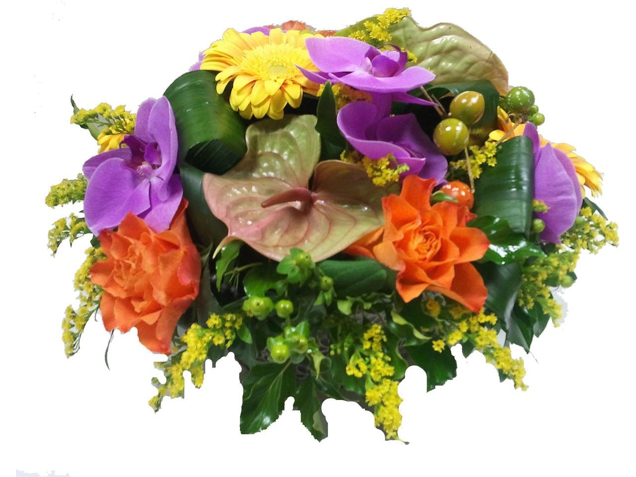 Composition avec orchid e des fleurs des fleurs etc for Vente de fleurs en ligne