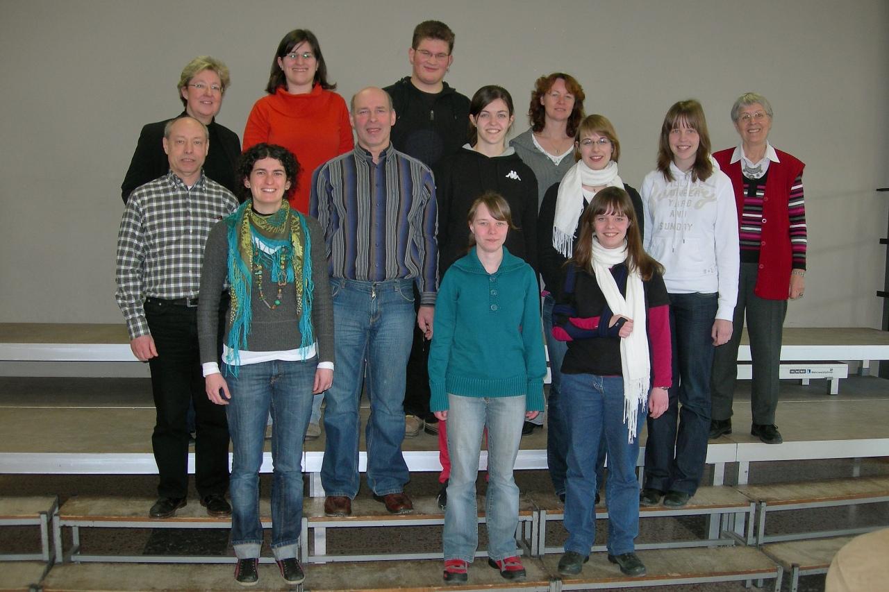 Erfolgreiche Prüfungsteilnehmer, Frau Claudia Rübben-Laux (Prüferin des CVNRW) und Theresia Schlechtriem (Dozentin)